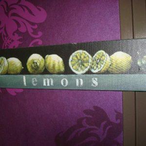 Leuk schilderijtje met citroenen