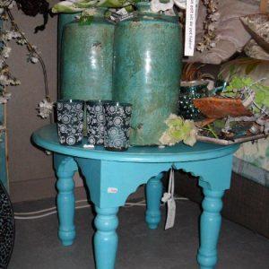 Turquoise bijzettafel