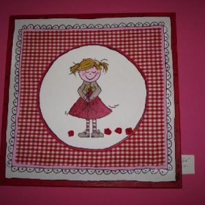 Girl rood-roze