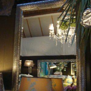 Spiegel met zilveren motief lijst Art Sensation