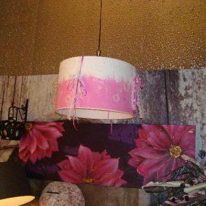 roze hanglamp