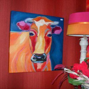 Schilderij met koe