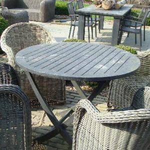 Teak houten ronde tafel