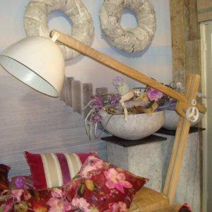 Vintage verstelbare vloerlamp wit