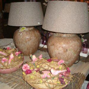 Oud-roze lampenvoet