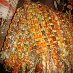 Oranje plaid