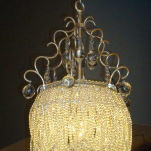 Sprankelende hanglamp met kristal