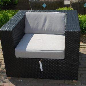Loungeset stoel zwart