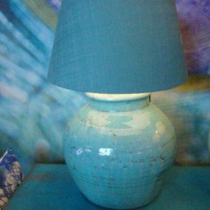 Grote blauwe lampen voet