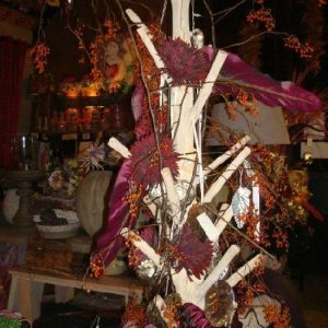Houten kapstokboom