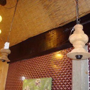 Pendel met houten houder