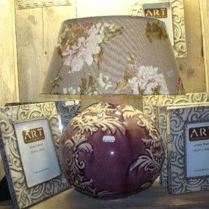 Oud roze barok lampenvoet
