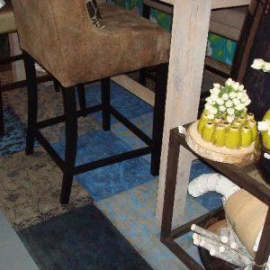 Vintage patchwork vloerkleed louis de poortere