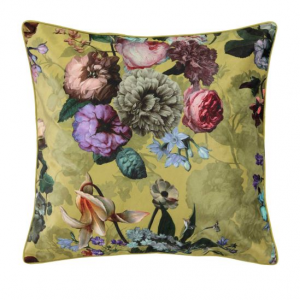 Essenza, fleur cushion square golden yellow