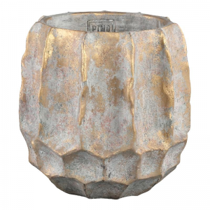 PTMD, Todd gold diamond cement pot round high s