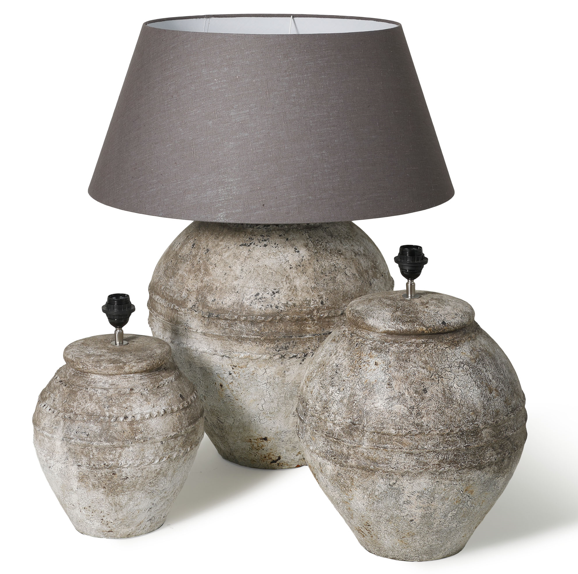 Genoeg Brosi, Gentong Antique White L d45x60 lampenvoet/tafellamp/lamp @EA84