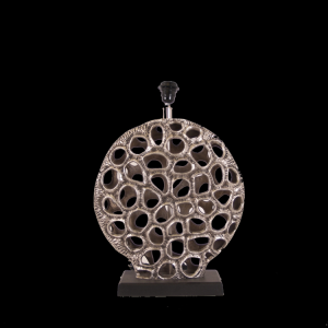 eurolight, tafellamp devon zilver antiek